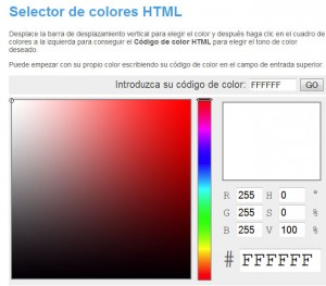 Selector colores HTML